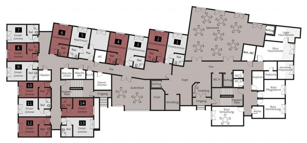 Grundriss Pflegeimmobilie Remscheid Düsseldorf kaufen
